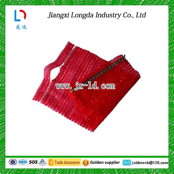 raschel mesh bag with handle