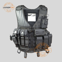 Wholesale low price military tactical 1000D high strength waterproof Nylon hawking fishing hunting vest with multipockets