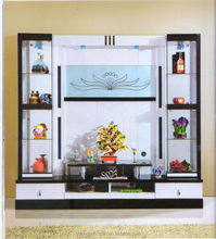 Living room cabinet wall units home furniture lcd tv wall unit design