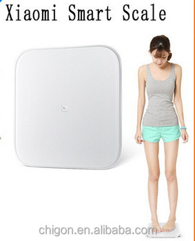 In stock!!! Xiaomi smart Weight Scale Android 4.4 IOS support bluetooth 4.0 for Xiaomi bathroom digital scale White color