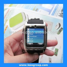 2014 bluetooth wrist watch phone with touch screen quad band gsm Mp3/Mp4