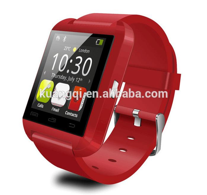 Hot selling hot new products for 2015 baby clock u8 bluetooth smart wrist watch