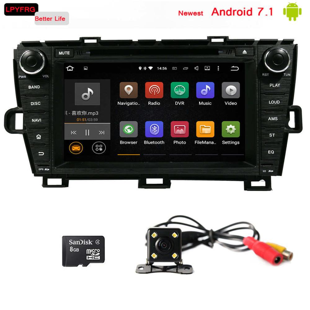 2 din android 7.1 car dvd player with gps navi for toyota PRIUS 2009-2013 right driving