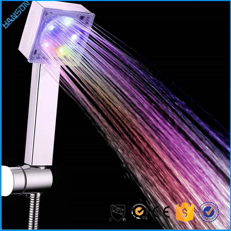 300*300*9 square full stainless steel water drive LED shower head