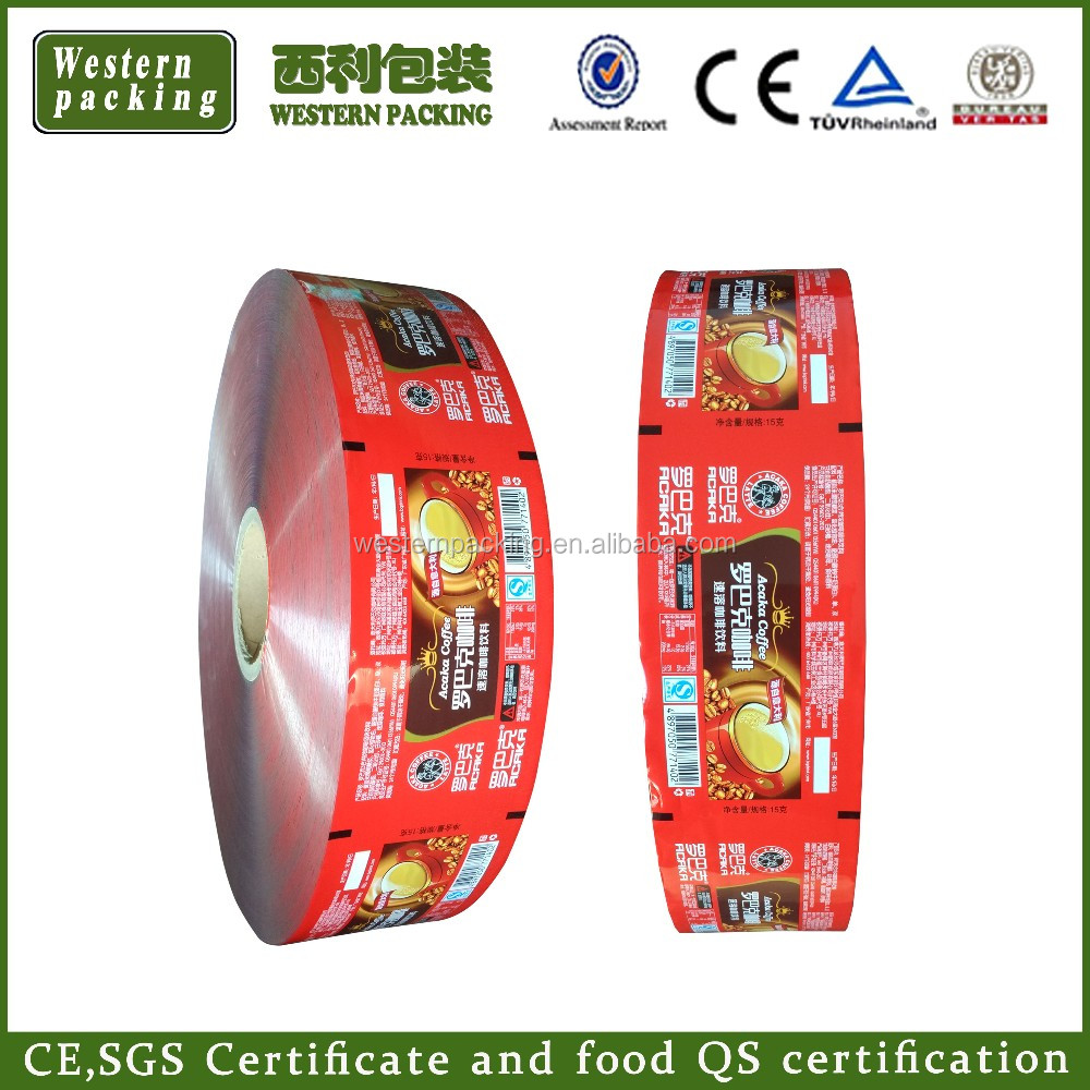 Guangzhou supply sachet packaging film <strong>roll</strong>, sachet packaging film, plastic film <strong>roll</strong> for coffee