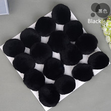 Black Real rex Rabbit fur pompom pon pon ball for keychain
