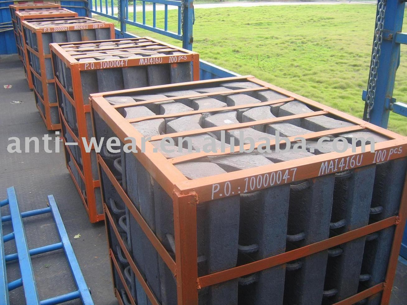 Pearlitic Cr-Mo Alloy Steel Sand Castings for Mine Mills
