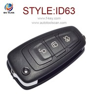 Auto key Original and New for Ford Focus 3 button Flip remote Key 4D63 434MHZ AK018047