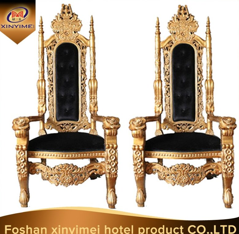 Antique hot selling golden king throne chairs