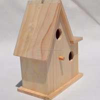 Personality parrot The sparrow is a bird's nest Can be hung real wood the bird's nest Double orifice cage customization