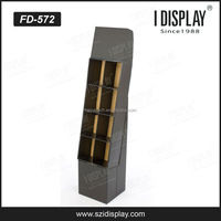 POP 4 tiers cardboard magazine display stand in store retail