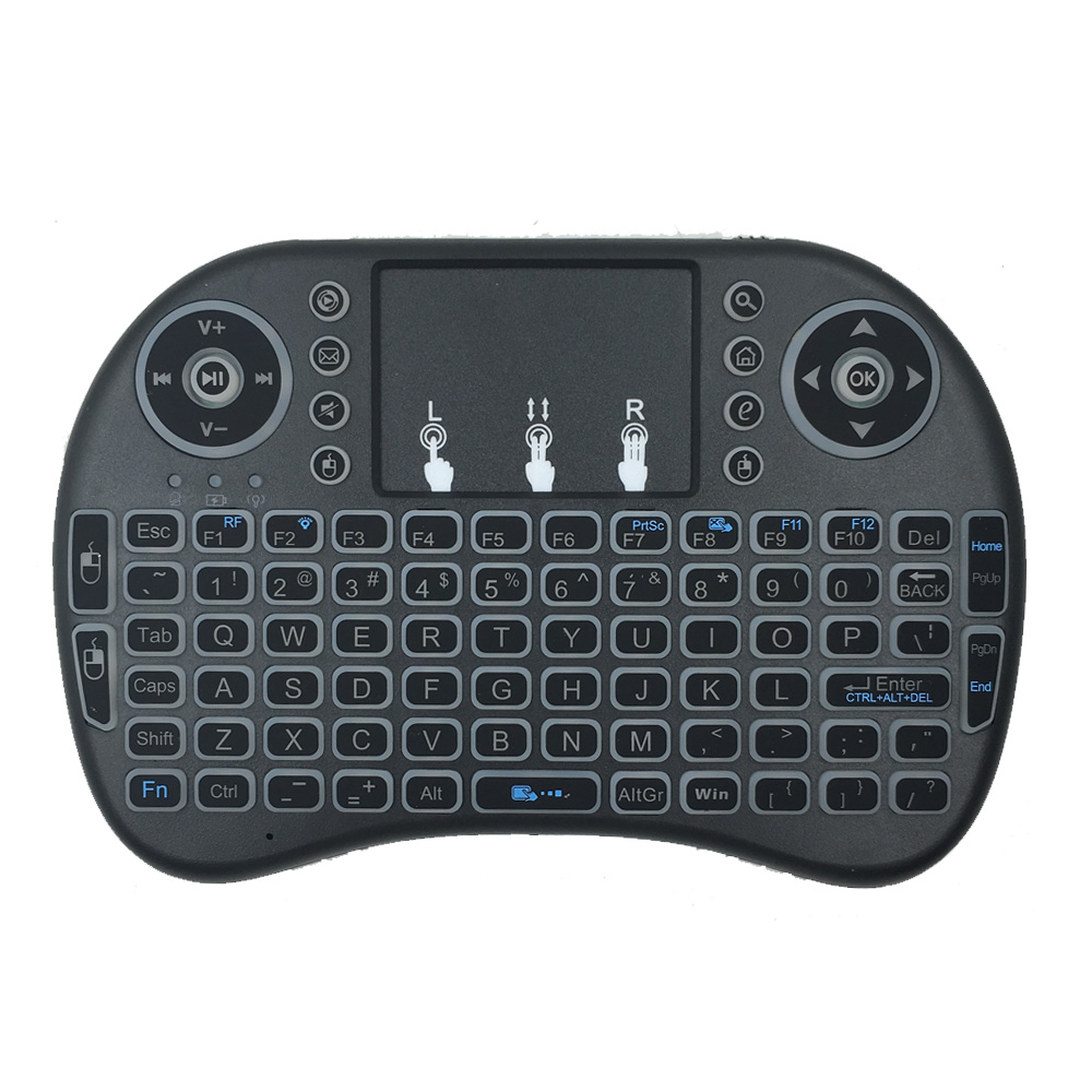 Multi-media Remote Control Touchable Handheld Usb Mini Wireless Keyboard