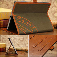 Wholesale newest postmark pattern leather case for ipad mini with retina display