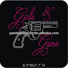 Girls and Guns Custom Rhinestone Iron On Bling Transfers