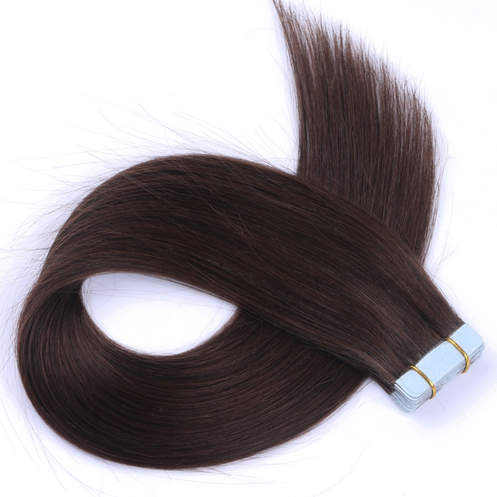 "Express Alibaba Hot Sale Cheap Top Quality 8A Brazilian Virgin Human Remy Hair 2# Tape in Hair Extension With 16""- 24"" Straight"