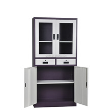 High Quality Steel Office Cupboard with 3-4 Shelves Made in China