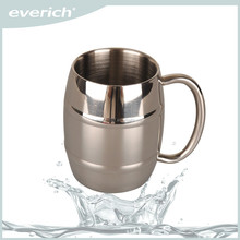 2015 Hot Double Wall Stainless Steel Travel Beer Mug With Handle