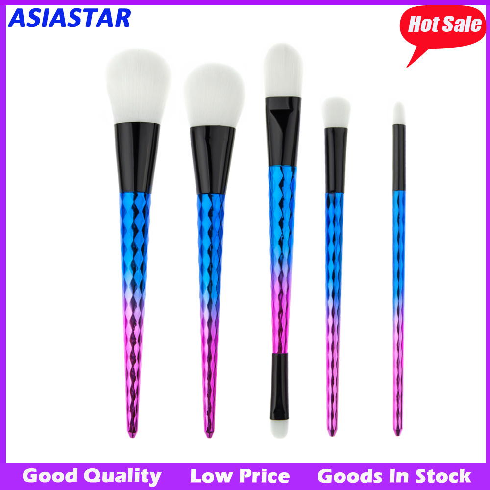 Best selling professional Pastel blue makeup brush set 5PCS Professional Cosmetic Brush set
