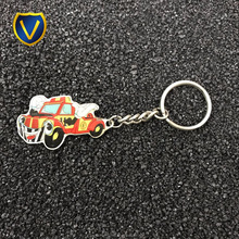 2017 hot sale high quality custom motorcycle or badminton 3d laser crystal photo keychain