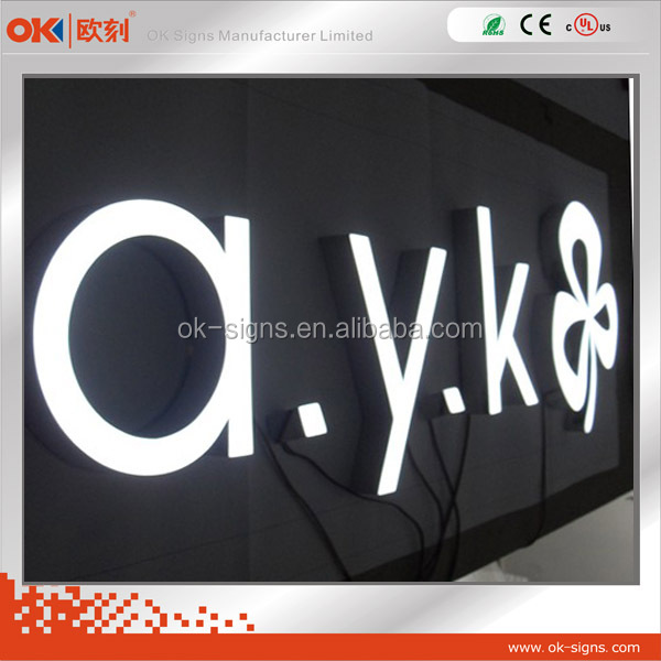 China factory customized LED alphabet letter front lit epoxy resin 3D letter