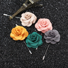 Wholesale fashionable Men's flower lapel pin flower brooch pins metal crafts for men