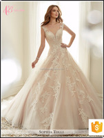 New Gorgeous Dazzling Princess Bridal Ball Gown Wedding Dress 2017