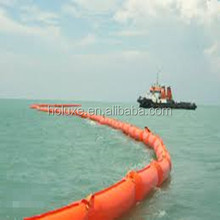 floating oil spill containment boom and water barrier