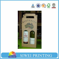 2015 Hot sale custom cut off strong printed paper bag wholesale for wine packing