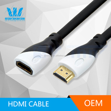 High Speed HDMI extender cable Male - Female with Ethernet - Supports 3D & Audio Return Channel