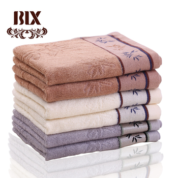 Natural home textile 100 % bamboo eco jacquard bath towel set for adult