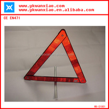 folding warn triangle,SP09 plastic warn triangle,china plastic safety triangle kits
