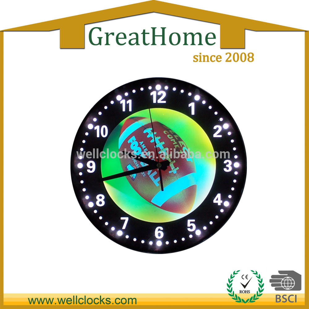 LED 15 inch round wall neon light wall clock
