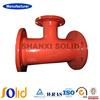 EN545/598 FBE coated DCI all flange tee pipe fitting
