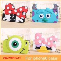 FOR APPLE IPHONE 6 IPHONE5S CUTE Cartoon rubber cover sulley soft hangbag case