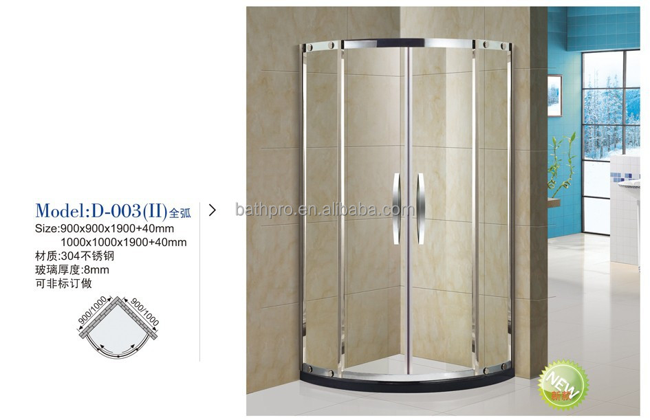 900*900*1900+40 mm small size shower room for Euro hotel decoration (D003)
