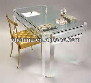 Factory Direct Custom Clear Elegant Acrylic Dinning Table and Chairs