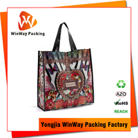 Offset Printing Recycled and Reusable PP Woven Shopper Bag