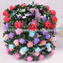 Wholesale high quality artificial flower garland for wedding decoration