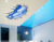 Blue Sky 3D White Cloud through Wall Sticker Art PVC Decal Decor Mural Removable