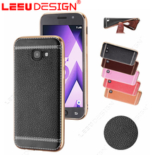 Soft leather tpu phone accessories mobile cell phone case cover for Samsun g galaxy A5 2017