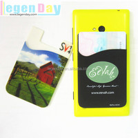 2015 Hot Sales 3M Sticker Silicone Phone Wallet/Silicone Key Chain Wallet/ Name Card Case