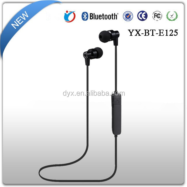 New style handsfree noise cancelling earbuds mp3 player wireless radio earbuds