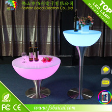 Modern Led Table Led Bar Table / Plastic Led Cocktail Table / Led Furniture