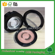 round plastcic custom eyelash box packaging wholesale manufacturer 3D mink eyelash packaging box