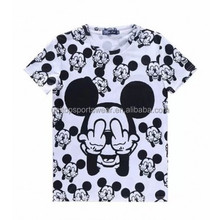 All Over Mickey Middle Finger Up T shirt Sublimation Print