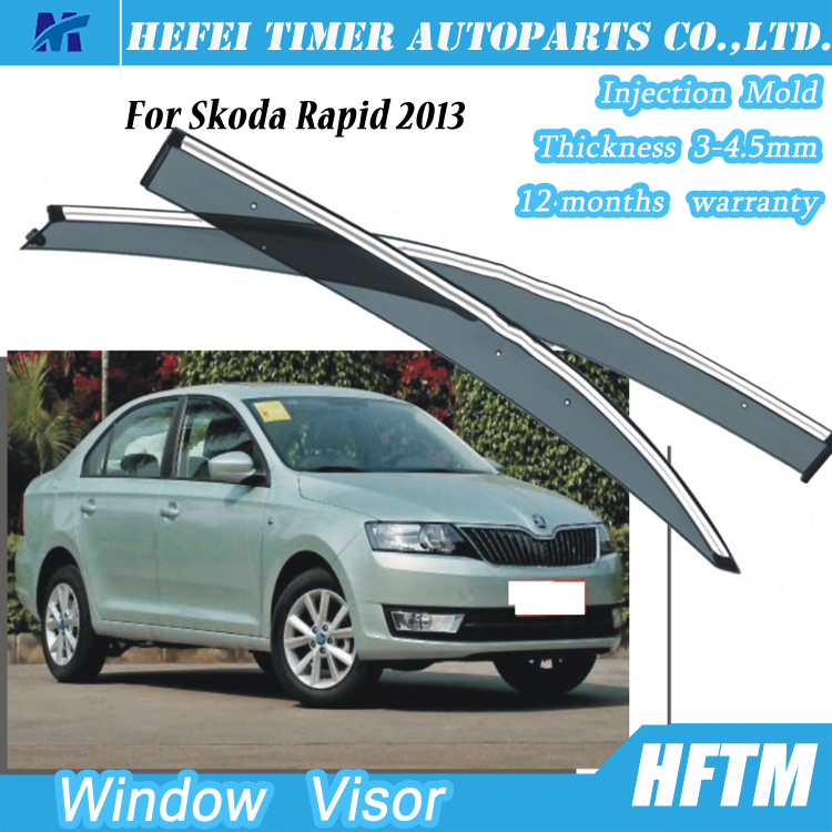 Autoparts air deflector window shields for Skoda Rapid 2013