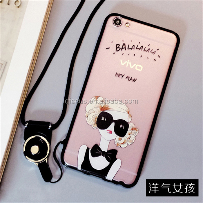 Cartoon Phone Case for iphone 6 6s case 4.7 inch 5.5 TPU cover phone case Lanyard
