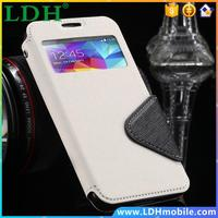 Stand Flip Leather Case for Samsung Galaxy S4 SIV i9500 Phone Cover Card Slot 100pcs/lot DHL wholesale