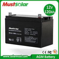 MUST Solar 12V 120Ah Rechargeable Battery for Solar Power System