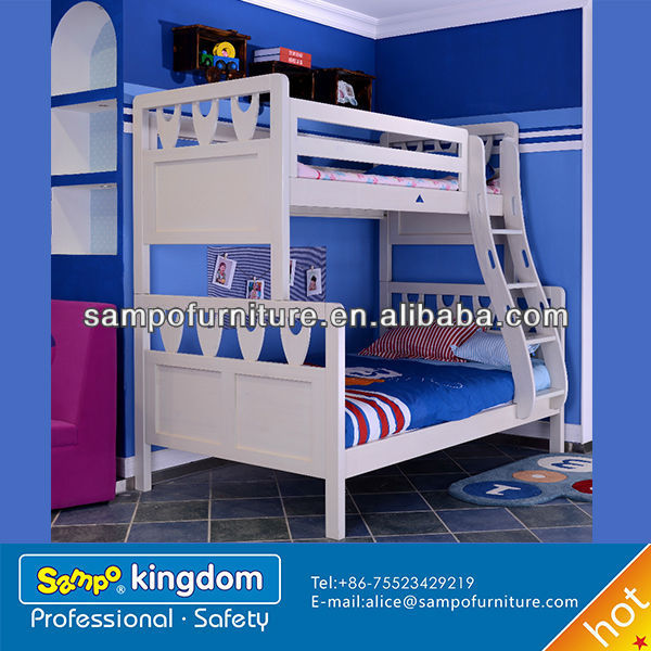 kids car shape bed of solid wooden bunk bed#SP-SC012S